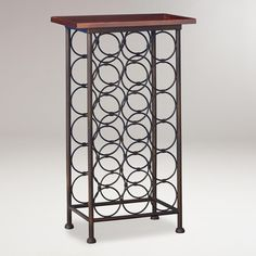 18-Bottle Wood Top Wine Rack from Cost Plus World Market on shop.CatalogSpree.com, your personal digital mall.