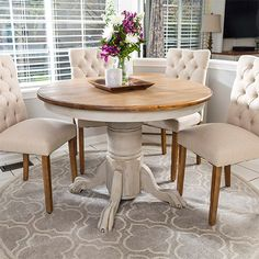 HOME-DZINE | Use Rust-Oleum Chalked Ultra Matte paint and Chalked Decorative Glaze to bring new life to a dining table.