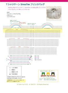 Guild by POD 毛糸ズキ!TシャツヤーンSmooTeeを使ったフリンジバッグの無料編み図