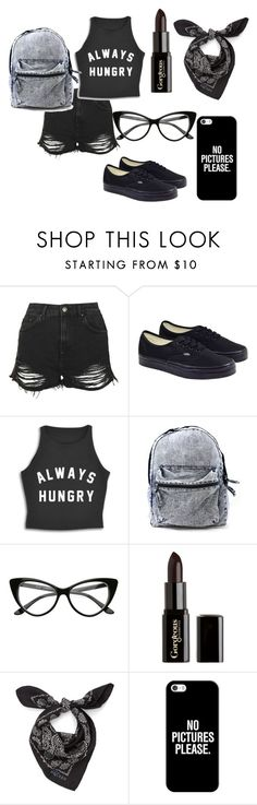 """""""Be gothic ♥"""" by cupduda ❤ liked on Polyvore featuring Topshop, Vans, Gorgeous Cosmetics, Alexander McQueen, Casetify, emo and gothic"""
