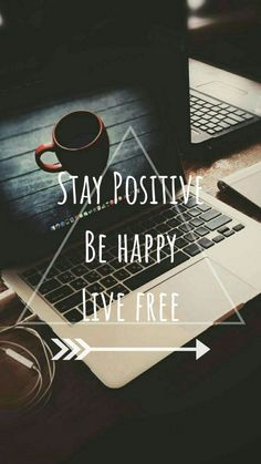 "Travel Quotes - ""Stay positive, be happy, live free."" Travel Quotes - Stay positive, be happy, live free. Girly Quotes, Cute Quotes, Words Quotes, Best Quotes, Sayings, Qoutes, Motivational Quotes Wallpaper, Inspirational Wallpapers, Wallpaper Quotes"