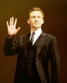 Tom Hiddleston . I'd like to think he's giving me a highfive.