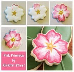 Primrose Cookies - an experiment with brush embroidery   Klickitat Street