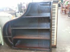 Baby Grand Piano Book Case Shelf!  Love it!!