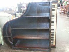Baby Grand Piano Book Case Shelf!  Love it!!
