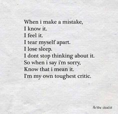 Positive Quotes : QUOTATION – Image : Quotes Of the day – Description When I make a mistake I know it. Sharing is Power – Don't forget to share this quote ! Now Quotes, True Quotes, Quotes To Live By, Motivational Quotes, Hard Life Quotes, Forget Me Quotes, Be Better Quotes, On My Own Quotes, Real People Quotes