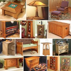 Arts & Crafts Downloadable Plan Super Bundle Mission Projects, Easy Projects, Woodworking In An Apartment, Morris Chair, Blanket Chest, Bookcase Storage, Simple Furniture, Wood Tools, Chair And Ottoman