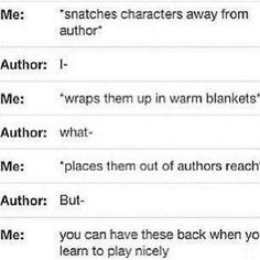 The dilemma of a reader.