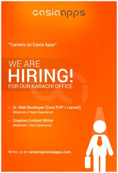 Career Apply for the jobs and build your career in Casia Apps We Are Hiring, Web Development, Digital Marketing, Writer, Career, Join, How To Apply, Carrera