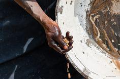 clean the food in #africa #ghana #tamale