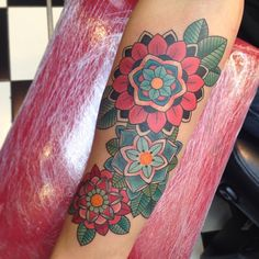 Traditional mandala flowers by Dominique Holmes at The Family Business; London, England.