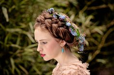 Irish brides often wore their hair in braids with ribbon and lace woven through the braids. Braided hair is an ancient Irish symbol of feminine power and luck.