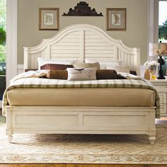 Paula Deen Home Steel Magnolia Panel Bed & Reviews   Wayfair