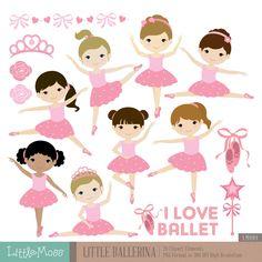 Little Ballerina Digital Clipart, Ballet Clipart, Ballerina Girl by LittleMoss on Etsy https://www.etsy.com/uk/listing/232120225/little-ballerina-digital-clipart-ballet