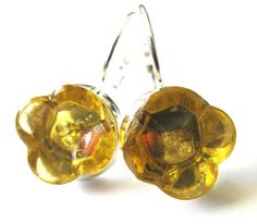 Antique & petite glass button earrings 2hole style by SewSandyShop, $20.00
