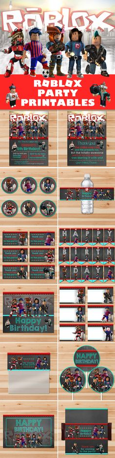 Roblox Party Printables Package