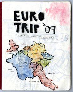 european travel journal by Mieke van der Merwe, via Behance