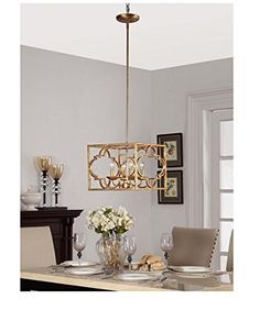 Gold Leaf Moroccan Metal 4light Chandelier * See this great product. (Note:Amazon affiliate link)