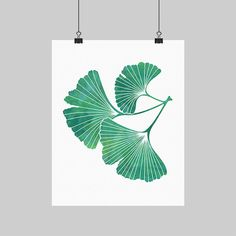 I made this ginkgo leaf print because I love the design of ginkgo leaves!