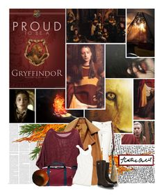 """""""Katie Bell: Gryffindor Chaser"""" by lejournaldessecrets ❤ liked on Polyvore featuring Katie, H&M, Madewell and Dolce&Gabbana"""