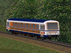 Triebwagen NE81 VT123+VS201 der SWEG mit Werbung