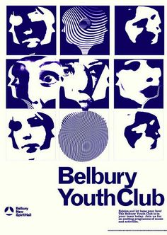 Belbury Youth Club Poster (white) available to purchase from Ghost Box Personal Project Ideas, Ghost Box, Typography Images, Ghost House, Club Poster, Youth Club, Dark And Twisted, Album Cover Design, Typographic Poster