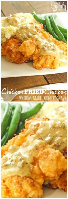 This Chicken Fried Chicken with Homemade Country Gravy is a true family favorite that always has everyone begging for more. The gravy is to die for! via @favfamilyrecipz
