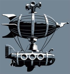 The Submersibile Dirigible ~ An illustration we used on one of our shirts