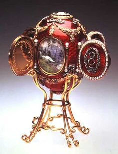 Faberge Imperial Eggs / Caucasus Egg Date 1893 Provenance Presented by Alexander III to Czarina Maria Fyodorovna Held in New Orleans Museum of Art (Gray Collection), Louisiana, USA