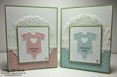 Something for Baby stamp set, Tea Lace Paper Doilies