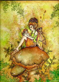 Mothers Love by Memory Howell Fairy Paintings, Fairy Statues, Elves And Fairies, Fairy Jewelry, Angel Art, Sprites, Fairy Art, Mythical Creatures, Faeries