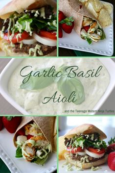 Make Italian style burgers and wraps with Garlic Basil Aioli! This recipe will please everyone in the family. Make this meal before you head to your next movie.