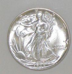 1945 S MS 66 NGC Stunning Brilliant White Walking Liberty Silver Half Dollar