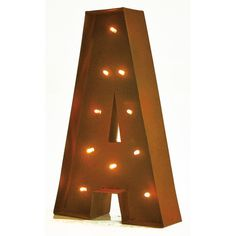 Found it at Wayfair - Rustic Vintage LED Light Glow Letter Wall Décor