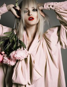 """Love"" | Model: Vlada Roslyakova, Photographer: Thanassis Krikis, Numéro Russia, August 2013"