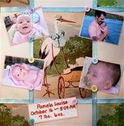Baby scrapbook page photo