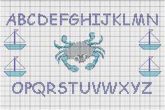 modèle point de croix abecedaire gratuit