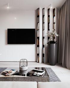 Дизайн проект квартиры для пары-почитателей Айн Рэнд