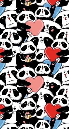 panda, wallpaper, and background resmi Panda Wallpaper Iphone, Cute Panda Wallpaper, Bear Wallpaper, Animal Wallpaper, Love Wallpaper, Pattern Wallpaper, We Bare Bears Wallpapers, Panda Wallpapers, Cute Cartoon Wallpapers