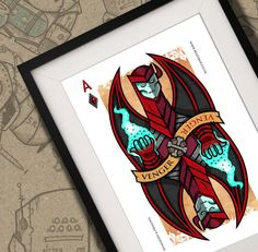 Venger Dungeons & Dragons Playing Card Print A4 by BeastBoxDesigns