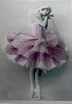 broderie - embroidered ballerina.