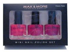 Make up - Mini Nagellack - 3 verschiedene Rottönen - je 3ml = 9ml - Diesen und weitere Artikel finden Sie bei Marias-Einkaufsparadies.de! - (www.marias-einkaufsparadies.de) -