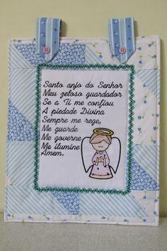 Painel ou Panô Oração Anjo da Guarda