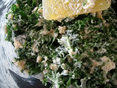 Creamy Millet and Kale Salad-- rich and cheesy non-dairy sauce that is true kryptonite.