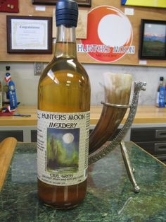 Infused with Earl Grey tea, this mead is our most award winning. Either 6 or 7 Medals now, I have lost count! Named after our Mead Maker - Gregory Earl Bowdish  ;)
