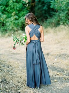 Stunning x-back clingy engagement session dress: http://www.stylemepretty.com/2015/11/23/romantic-high-school-sweethearts-riverside-engagement/ | Photography: Alexandra Grace - http://alexgracephotography.com/