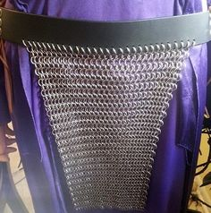 Custom Chainmail Loincloths with leather by CelestialChainmail