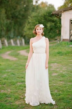 Ruche wedding dress