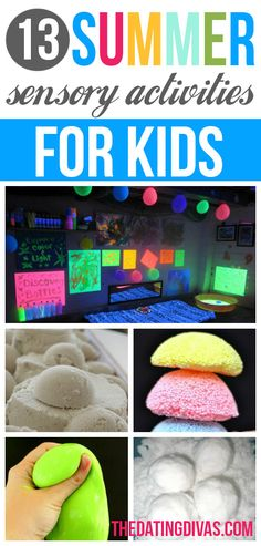 Summer Boredom Buster Ideas- lots of awesome Sensory Activities for kids! Summer Fun For Kids, Diy For Kids, Crafts For Kids, Summer Daycare, Sensory Activities, Craft Activities For Kids, Summer Activities, Summer Crafts, Fun Crafts