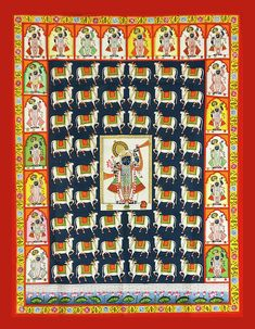 Gopashtami Pichwai with 20 shringars – The Kaarigars Pichwai Paintings, Indian Art Paintings, Cow Painting, Silk Painting, Sleeping Drawing, Tanjore Painting, Indian Folk Art, Lord Krishna Images, Cool Art Drawings